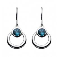Gemme London Blue Topaz Loop Drop Earrings
